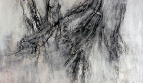 am Hochwald, 2013, Acryl und Kohle auf Leinwand, 110 x 140 cm © Dieter Konsek