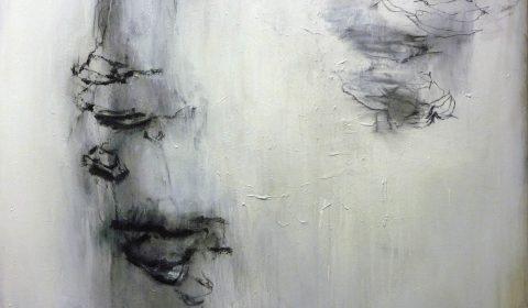am Vogelsee, 2015, Acryl und Kohle auf Leinwand, 110 x 150 cm © Dieter Konsek