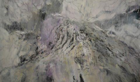 Baum 3, 2015, Acryl und Kohle auf Leinwand, 125 x 200 cm © Dieter Konsek