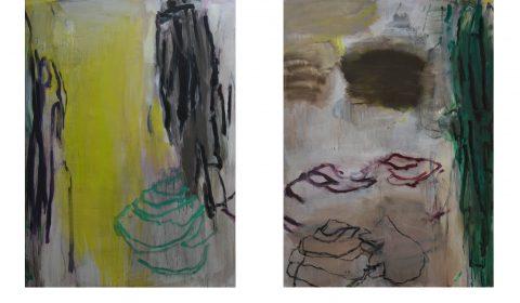 Februar 1, 2018, Acryl und Kohle auf Leinwand,150 x 110 cm - Februar 2, 2018, Acryl und Kohle auf Leinwand,150 x 110 cm © Dieter Konsek