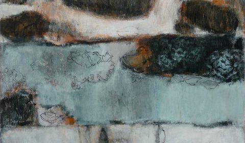 Flechten, 2006, Acryl und Kohle auf Leinwand,90 x 110 cm © Dieter Konsek