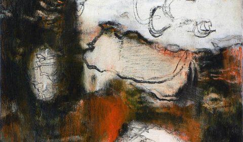 Bewegung, 2007, Acryl und Kohle auf Leinwand,60 x 110 cm © Dieter Konsek
