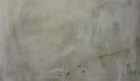 Weite, 2015, Acryl und Kohle auf Leinwand,110 x 150 cm © Dieter Konsek