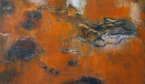 Wachsen im Raum 1, 2005, Acryl und Kohle auf Leinwand, 125 x 170 cm © Dieter Konsek