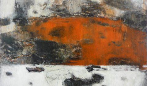 Wachsen im Raum 3, 2005, Acryl und Kohle auf Leinwand, 125 x 170 cm © Dieter Konsek