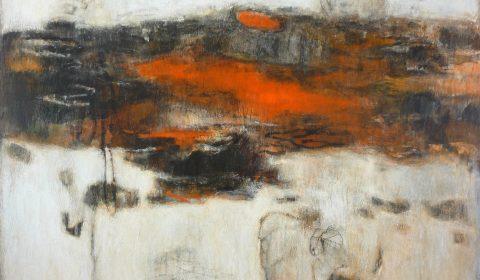 Wachsen im Raum 4, 2005, Acryl und Kohle auf Leinwand, 125 x 170 cm © Dieter Konsek