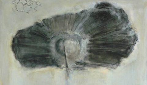 Zellkörper 2, 2012, Acryl und Kohle auf Leinwand, 80 x 120 cm © Dieter Konsek