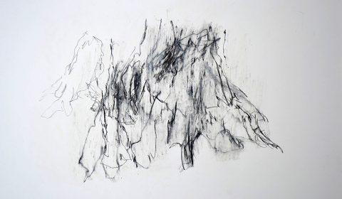 22. 10. 2012, Bleistift und Ölpastell auf Papier, 36,5 x 51 cm © Dieter Konsek