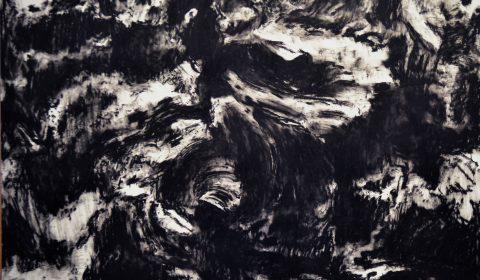 Eichenstruktur, 2012, Ölpastell auf Papier, 70 x 100 cm © Dieter Konsek