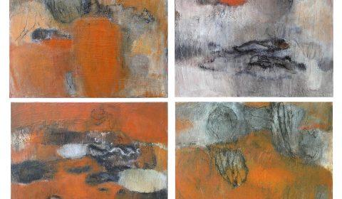 aus der Serie vom Baum, 2004, Acryl und Kohle auf Leinwand, je 40 x 50 cm © Dieter Konsek