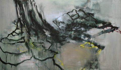 Wachstum 2, 2018, Acryl auf Leinwand, 125 x 200 cm