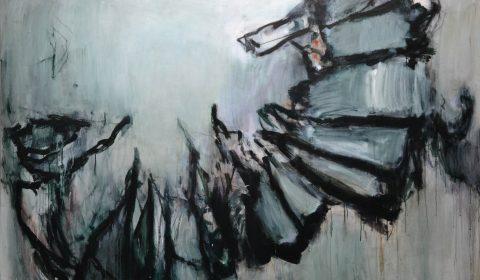 Aus der Nähe 1, 2018, Acryl und Kohle auf Leinwand, 140 x 200 cm