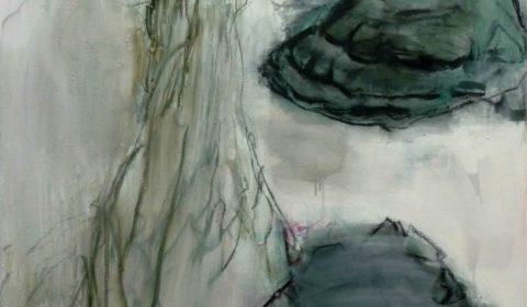 5. 12. 2019, Acryl und Kohle auf Leinwand,150 x 110 cm © Dieter Konsek