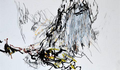 11. 10, 2015, Ölpastell und Bleistift auf Papier, 36,5 x 51 cm © Dieter Konsek