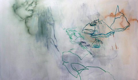November, 2019, Acryl und Pastell auf Leinwand,100 x 150 cm © Dieter Konsek