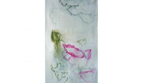 25. 2. 2020, Acryl und Pastell auf Leinwand, 200 x 100 cm © Dieter Konsek