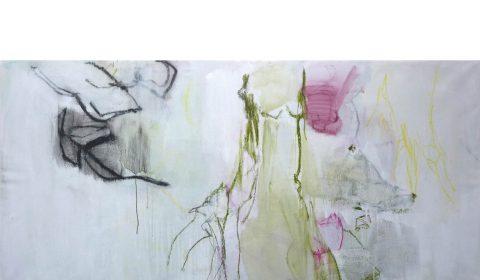 26. 2. 2020, Acryl und Pastell auf Leinwand, 100 x 200 cm © Dieter Konsek