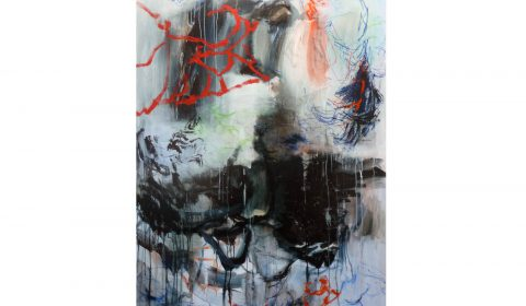 weiter, 27. 3. 2020, Acryl und Pastell auf Leinwand, 200 x 125 cm © Dieter Konsek